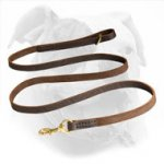 Stitched Leather Dog Leash for Walking and Training