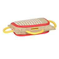 3 Handled Bite Pillow-Training Jute Bite PAD - Bulldog training