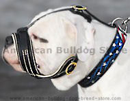 American Bulldog Royal Nappa Leather Dog Muzzle