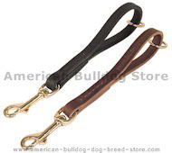 Leather Snap Tab 10 inch LEASH for American Bulldog