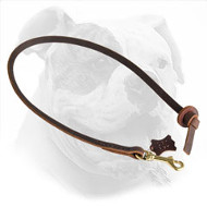 Pocket Size Leather Leash for American Bulldog