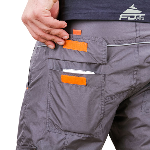 Convenient Design Professional Pants with Useful Side Pockets for Dog Training