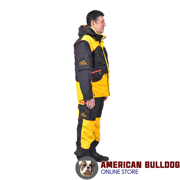 Comfortable Dog Training Bite Suit with a Number of Pockets