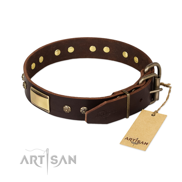 Unique genuine leather collar for your dog