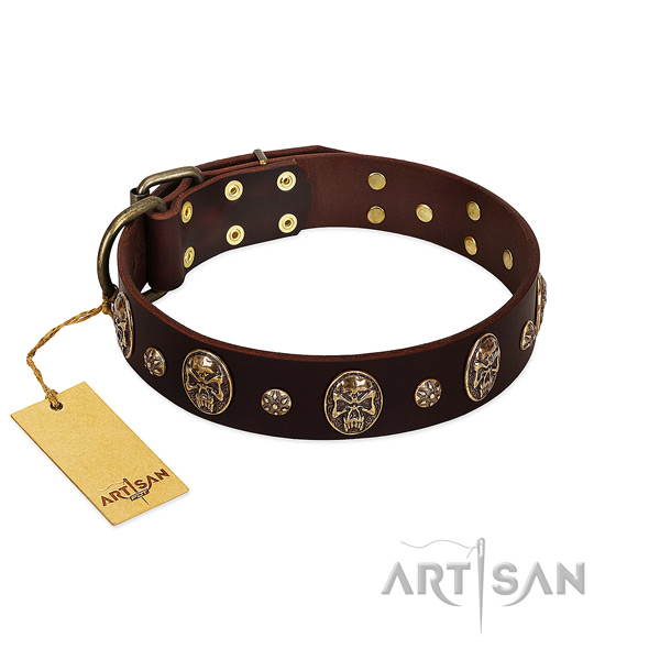 Handcrafted leather collar for your doggie