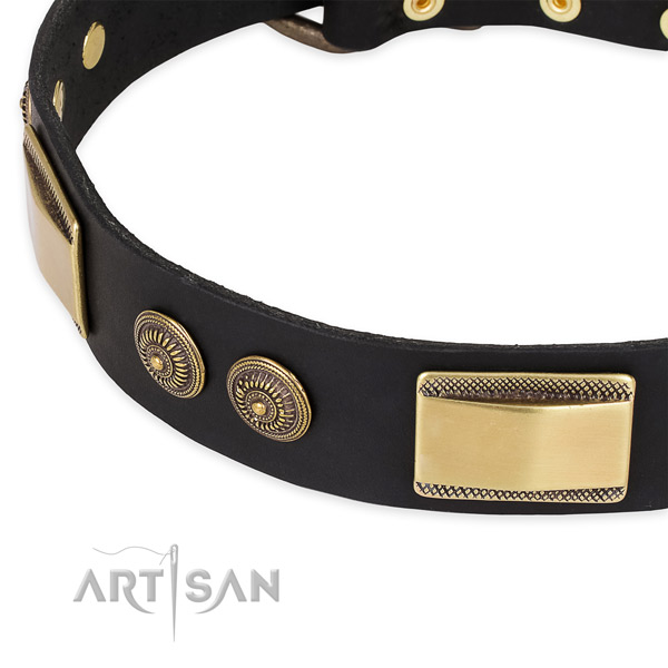 Handcrafted full grain genuine leather collar for your beautiful doggie