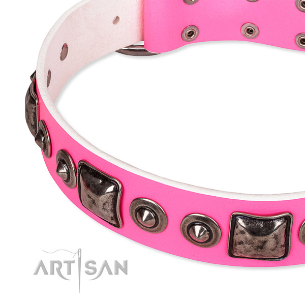 Best quality leather dog collar made for your attractive canine