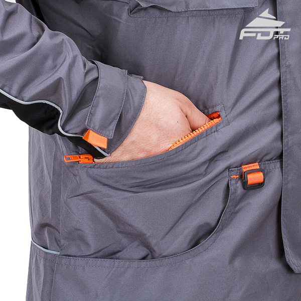 FDT Professional Dog Tracking Jacket with Back Pockets for Any Weather