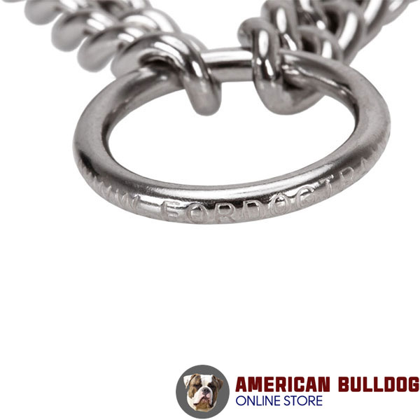 Dog pinch collar with durable stainless steel O-ring