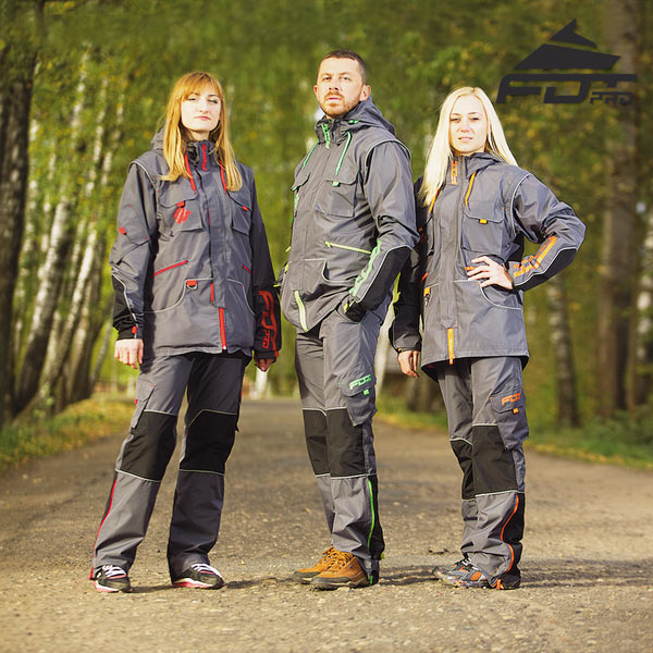 Top Rate Dog Trainer Suit for Tracking with Reflective Strap