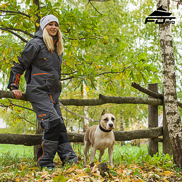 Men and Women Design Active Dog Training Professional Pants with Back Pockets