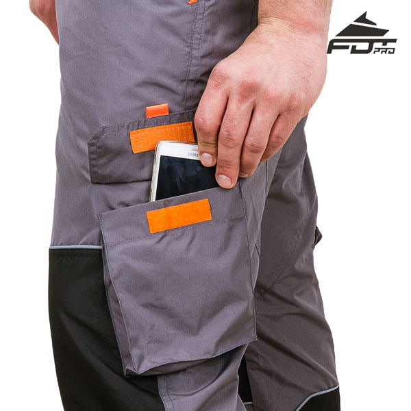 Pro Design Dog Tracking Pants with Handy Velcro Side Pocket