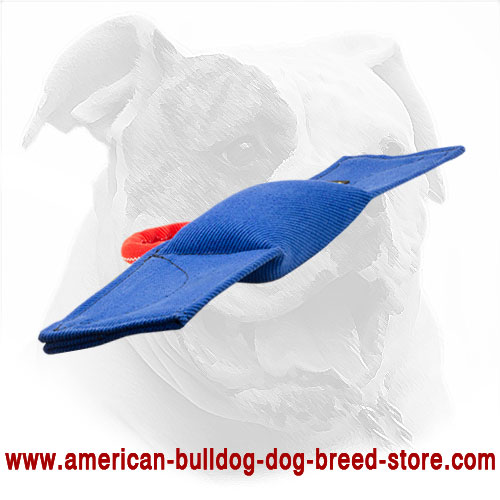 French Linen Dog Bite Pad for American Bulldog