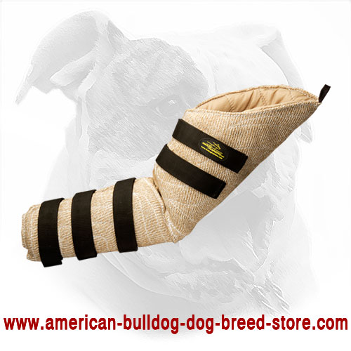 Hidden Dog Bite Sleeve for American Bulldog