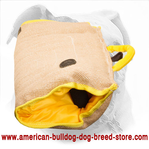 Jute American Bulldog Bite Sleeve For Puppy