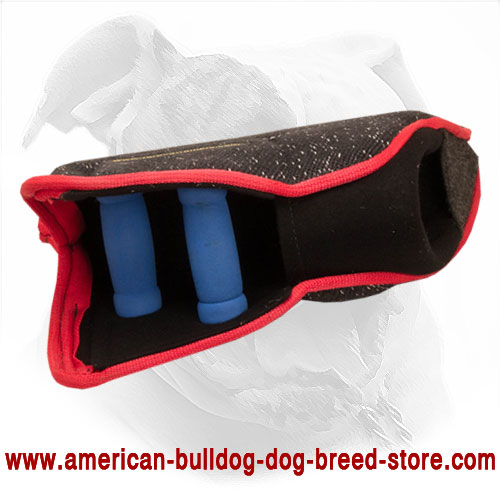 French Linen American Bulldog Bite Sleeve for Young Dog