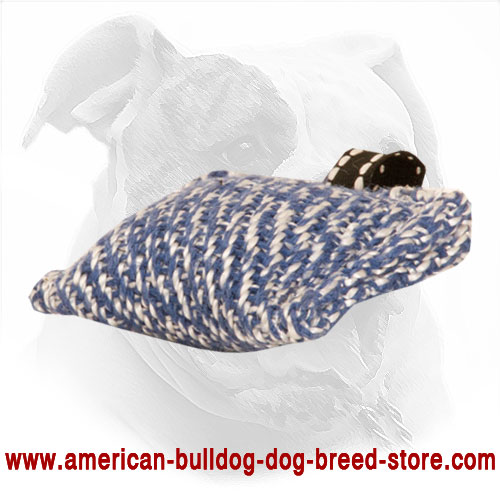 French Linen American Bulldog Bite Tug