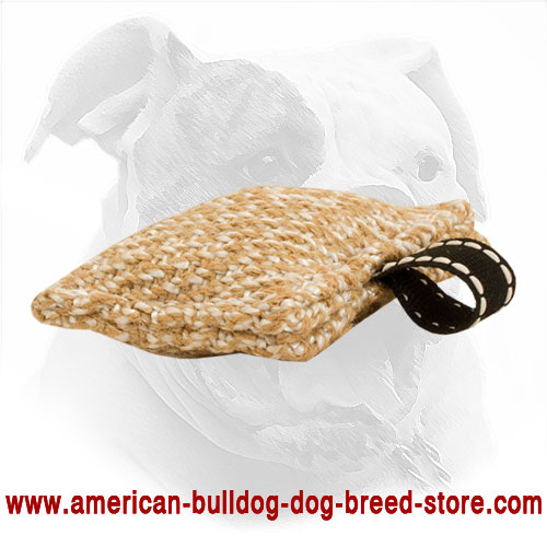 American Bulldog Bite Tug Made of Jute
