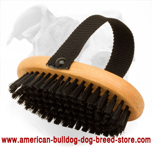 Wooden American Bulldog Bristle Brush