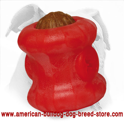 Treat Dispensing American Bulldog Chewing Toy