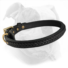 Designer Leather Canine Collar for Training and Walking