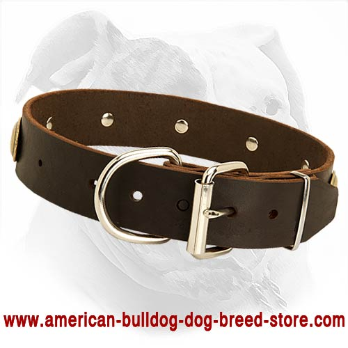 american bulldog collars retro style designer leather dog collar for american 1256