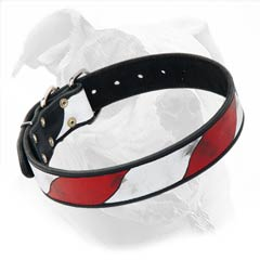 Hand-Painted Collar for American Bulldog