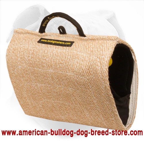 Jute Dog Bite Builder for American Bulldog