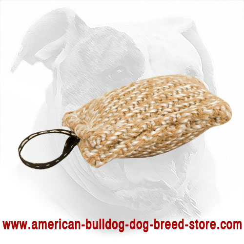 Jute Dog Bite Tug for American Bulldog Puppy