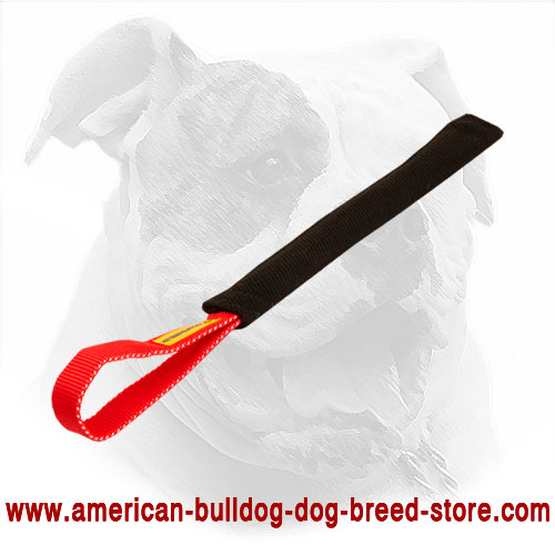 American Bulldog Bite Tug Made of French Linen for Puppies