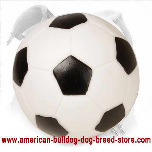 Football Style Rubber Dog Ball for American Bulldog