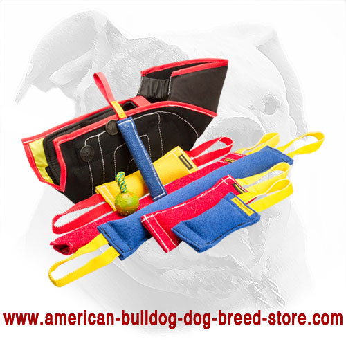 Set of Dog Bite Tugs for American Bulldog Training + 3 Presents for Free