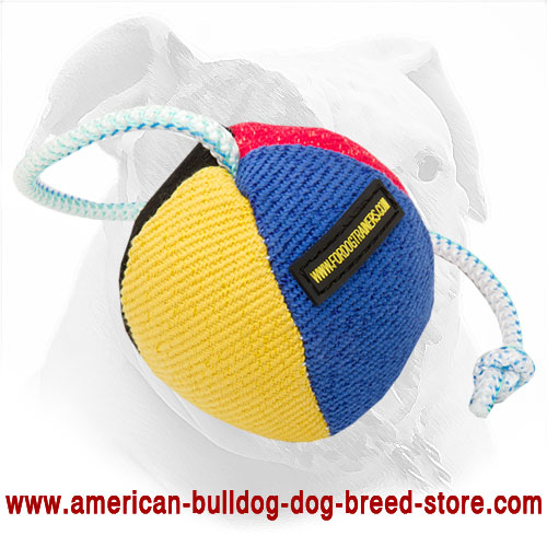 35% OFF - LIMITED OFFER! 9 Cm French Linen Bite Ball for American Bulldog Training and Playing