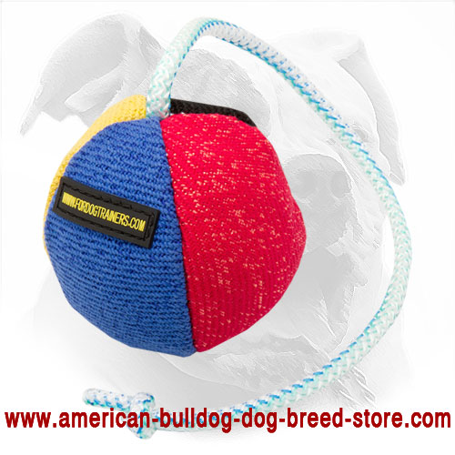 11 Cm French Linen Bite Ball for American Bulldog Early Bite Training