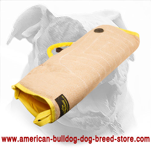 American Bulldog Puppy Bite Sleeve Made of Jute