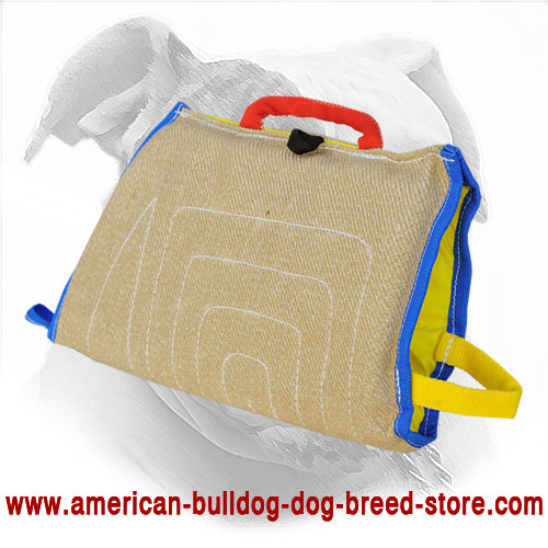 American Bulldog Bite Sleeve Made of Jute | Puppy Training