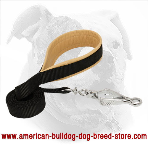 Nylon American Bulldog Lead with Support Material on Handle