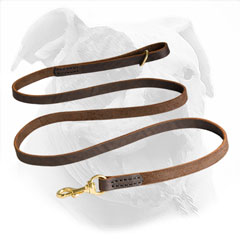 Stitched Leather Leash for American Bulldogs